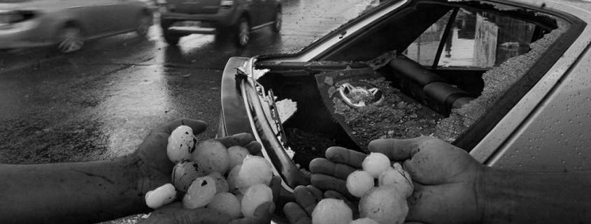 daños lluvia piedra cristal roto coche granizo relcamar seguro
