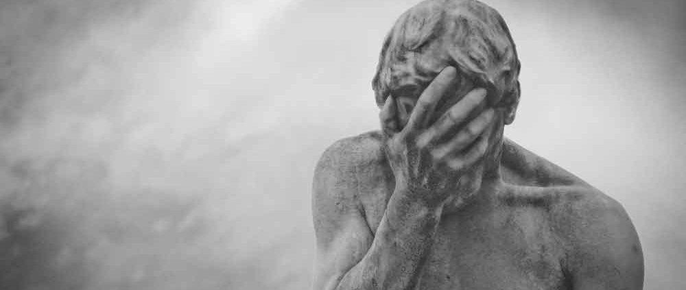 Ley Nabal seguros persona estatua lamentándose facepalm