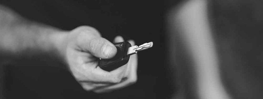 Alquilar el vehículo de sustitución coche llave